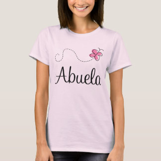 Pink Butterfly Abuela Gift Tee