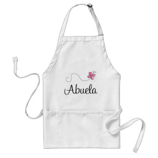 Pink Butterfly Abuela Gift Tee Adult Apron