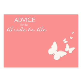 Pink Butterfly Advice for the Bride to Be Cards Large Business Cards (Pack Of 100)