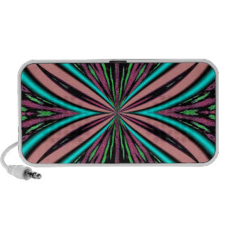 Pink Butterfly Artistic Doodle Travel Speaker