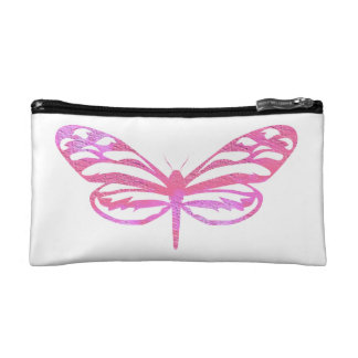 Pink Butterfly Cosmetic Bags