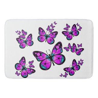 Pink Butterfly Bath Mat