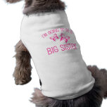Pink Butterfly Big Sister to Be Pet T-shirt