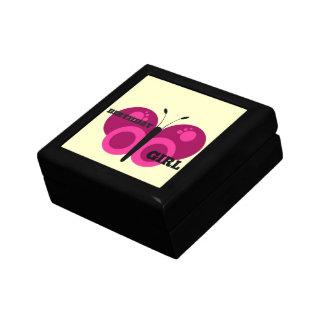 Pink Butterfly Birthday Girl Gift Boxes