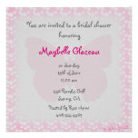 Pink Butterfly Bridal Shower Personalized Announcements