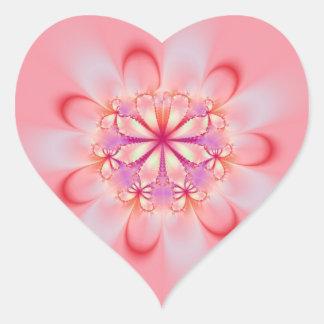 Pink Butterfly Bush Heart Sticker
