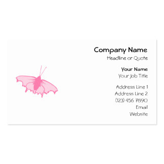 Pink Butterfly. Business Cards