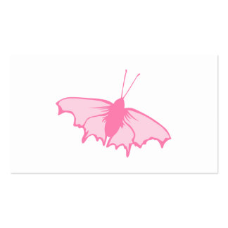 Pink Butterfly. Business Card Template