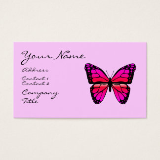 Pink Butterfly Business Card