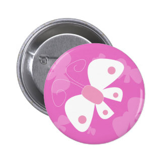 pink butterfly button