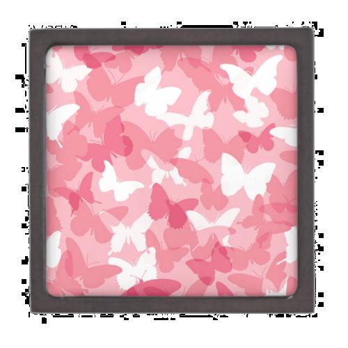 Pink Butterfly Camouflage Premium Keepsake Box