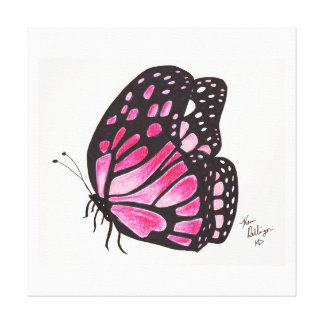 Pink Butterfly (Canvas Print)