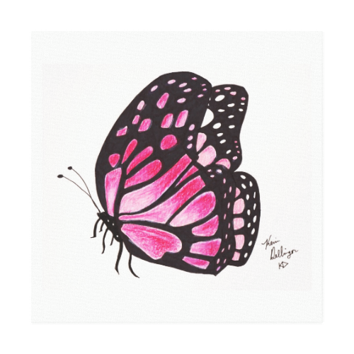 Pink Butterfly (Canvas Print) Canvas Print
