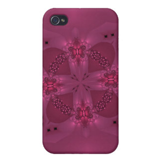 pink Butterfly cirle iPhone 4 Cover