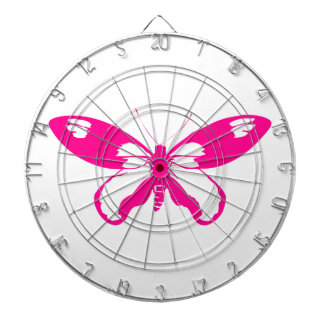 Pink Butterfly Dartboard With Darts