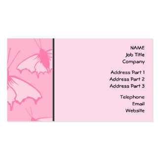 Pink Butterfly Design. Business Card Templates