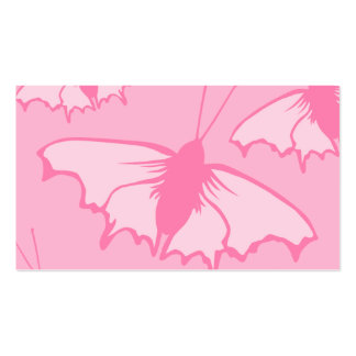 Pink Butterfly Design. Business Card