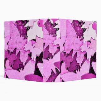 Pink Butterfly Dreams 3 Ring Binders