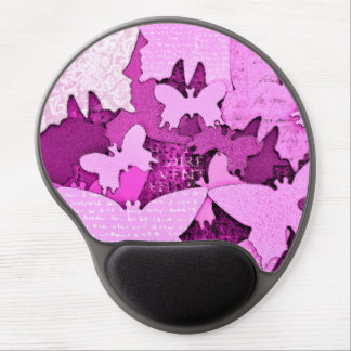 Pink Butterfly Dreams Gel Mouse Pad