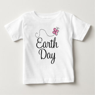 Pink Butterfly Earth Day T-shirt