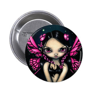 """Pink Butterfly Fairy"" Button"