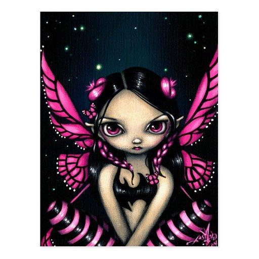 """Pink Butterfly Fairy"" Postcard"