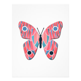 Pink butterfly flyer