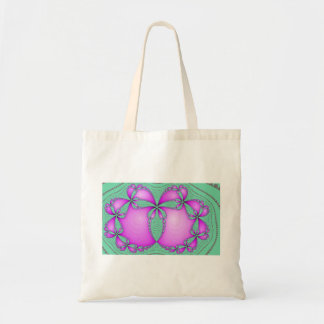 pink butterfly fractal tote bag