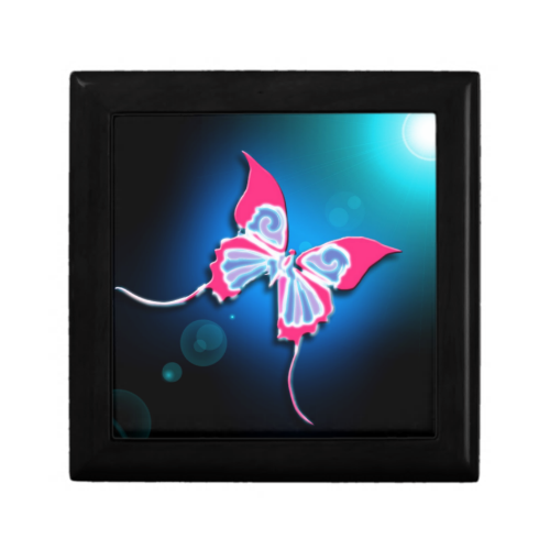 Pink Butterfly Gift Box