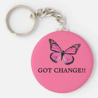 pink butterfly, GOT CHANGE!! Keychain