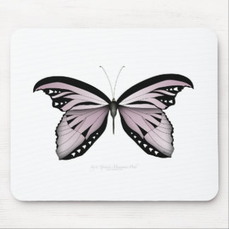 Pink Butterfly Greater Mountain Pink Mouse Pad