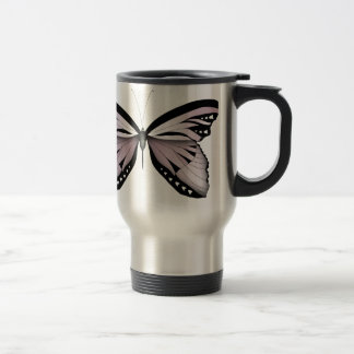Pink Butterfly Greater Mountain Pink Travel Mug