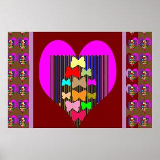 PINK Butterfly HEART Print navinJOSHI NVN136