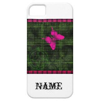Pink Butterfly Jigsaw iPhone Case