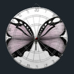 "Pink Butterfly  Large Pink Huntsman Dartboard<br><div class=""desc"">classic,  elegant and stunning images collated from the world's unusual and undiscovered Lepidoptera