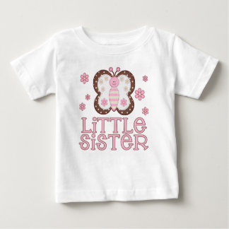 Pink Butterfly Little Sister Baby T-Shirt