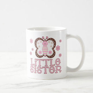 Pink Butterfly Little Sister Classic White Coffee Mug