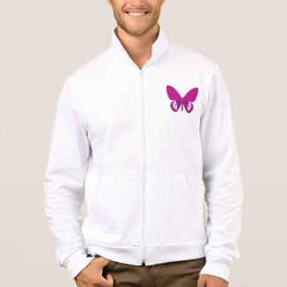 Pink Butterfly Mens Jacket