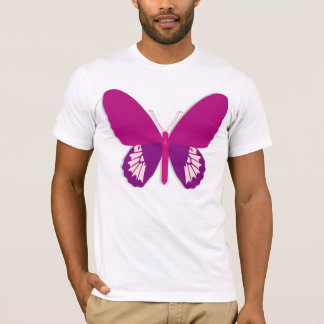 Pink Butterfly Mens T-Shirt