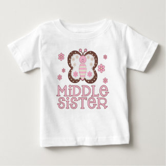 Pink Butterfly Middle Sister Shirt