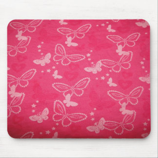 Pink Butterfly Mousemat