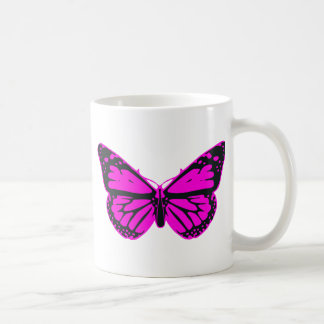 Pink butterfly classic white coffee mug