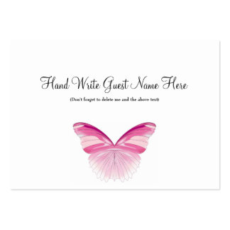 Pink Butterfly - Place Cards Business Cards
