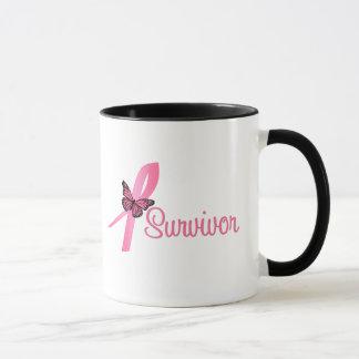 Pink Butterfly Ribbon - Breast Cancer Survivor Mug