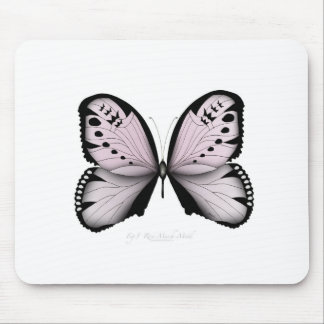 Pink Butterfly Rose Marsh Maid Mouse Pad