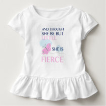 Pink Butterfly - She is Fierce Toddler T-shirt