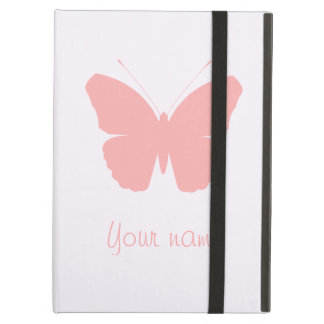 Pink Butterfly Silhouette Design (Personalised) Case For iPad Air