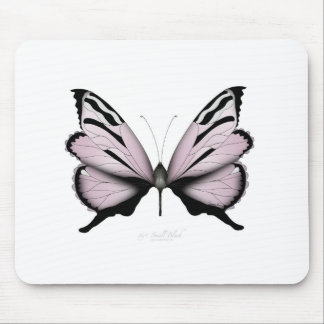 Pink Butterfly Small Blush Mouse Pad