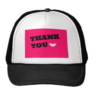 Pink Butterfly Thank You Hats