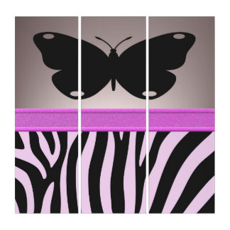 Pink Butterfly Triptych